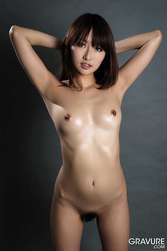 image Uncensored japanese idol runa anzai oiled up pussy