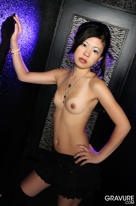nude gothic asian girl