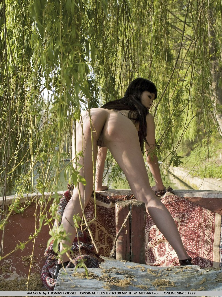 Chinese Outdoor Nudes By The River-4503