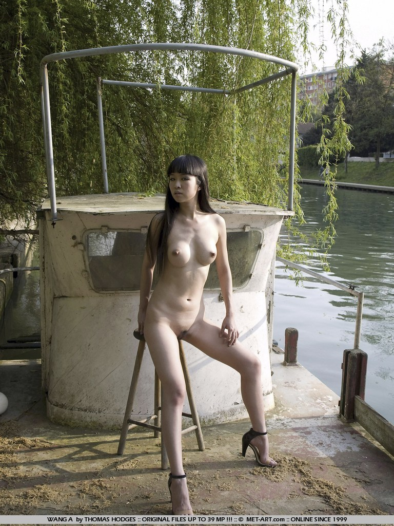 Chinese Outdoor Nudes By The River-9814