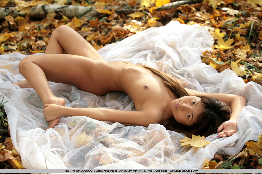 Hot naked woman bent over