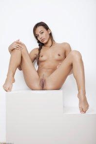 legs wide apart