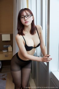 receptionist in lingerie