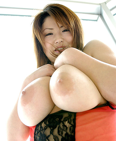 Huge bare japanese tits
