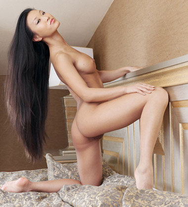 long model hair asian Nude