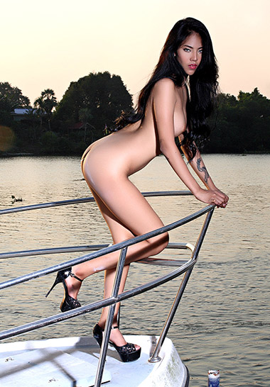 Naked chinese girl fishing naked
