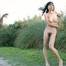 Raw set of a very cute oriental girl on holiday.
