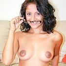 Sexy little 21 year old with Nepalese origin Maya Bazin