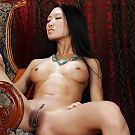 Osaka girl with long black hair and small brown nipples, she has small firm hips and a tight cute bottom.