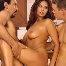 When she was in her greatest shape ever: Classic Tera Patrick threesome scene doing sandwich
