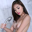 Bellina of BKK rests inside larne tub with soapy water waiting fpr her flawless bosy