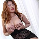 Black lingerie striptease by upper enhanced Bangkok secretary whos loves luxury parfume